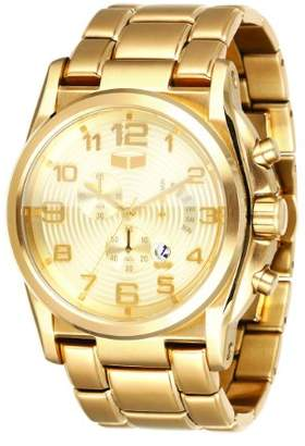 Vestal Men's DEV005 De Novo Gold Chronograph with Day Register Watch