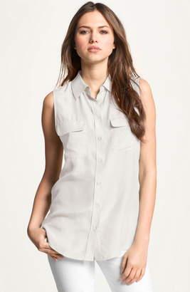 d8d46d3621544 Equipment  Slim Signature  Sleeveless Silk Shirt
