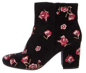 Karl Lagerfeld Suede Embroidered Boots