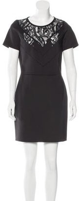 Sandro Lace-Accented Sheath Dress $125 thestylecure.com