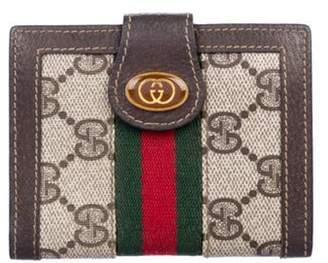 Gucci Vintage GG Plus Compact Wallet green Vintage GG Plus Compact Wallet