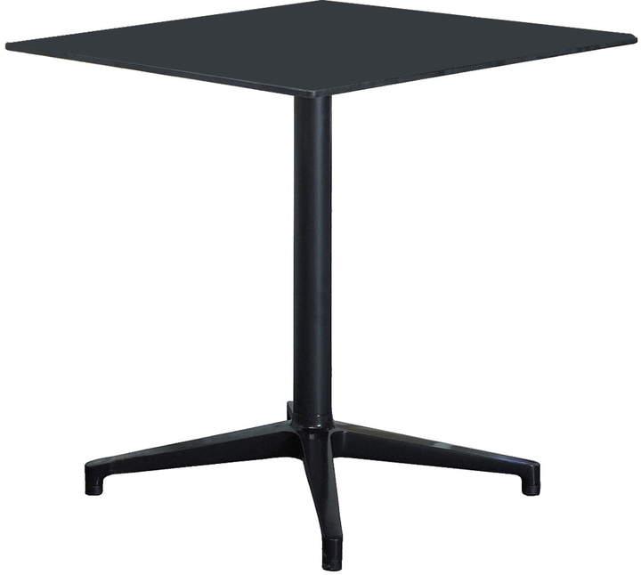 Bistro Table Outdoor, rechteckig, 79.6 x 64 cm, Schwarz / Schwarz