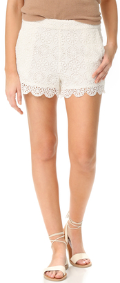 Ella Moss Medallion Crochet Shorts $148 thestylecure.com