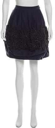 Lela Rose Embellished Mini Skirt