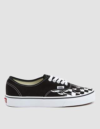4fbbd74909c7 Vans Authentic Canvas Sneaker in Checker Flame
