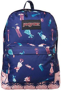 JanSport New Women's Black Label Superbreak Backpack Hula Life Palm N/A