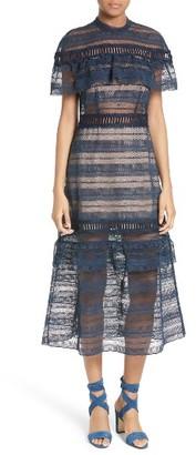 Women's Self-Portrait Ruffle Sleeve Lace Midi Dress $595 thestylecure.com