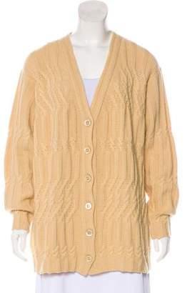 Les Copains Wool-Blend Knit Cardigan