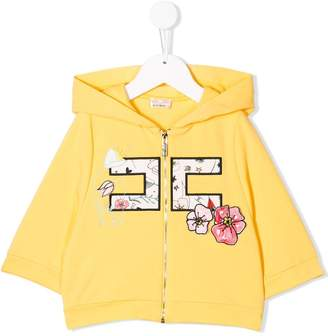 Elisabetta Franchi La Mia Bambina appliqué detail hoodie