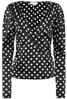 Caroline Constas Berdine polka-dot stretch silk blouse