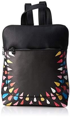 Desigual Bols_tears Splatter Nanaimo, Women's Backpack Handbag, Black (Negro), 11x35.5x28 cm (B x H T)