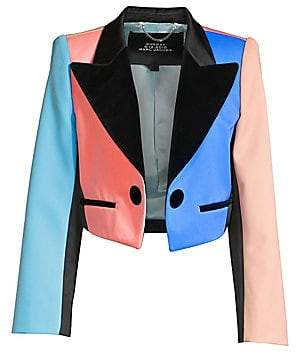 Marc Jacobs Women's Color Block Cropped Tuxedo Jacket - Size 0