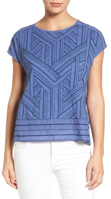 Petite Women's Caslon Embroidered Button Back Tee $39 thestylecure.com