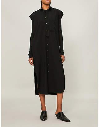 Y's Ys Sleeveless wool-blend shirt dress