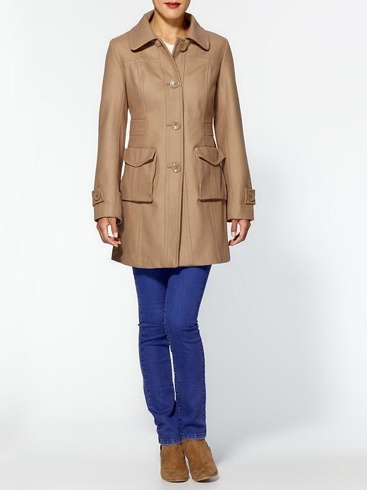 Tulle Single Breasted Coat