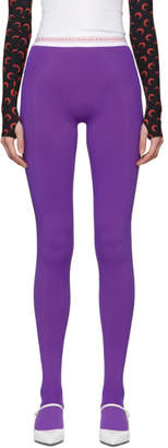 Marine Serre Purple Jersey Leggings