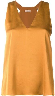 Blanca sleeveless v-neck blouse