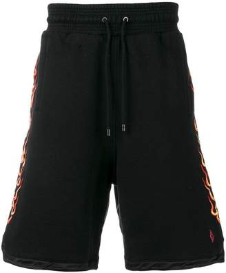 Marcelo Burlon County of Milan flames stamped shorts