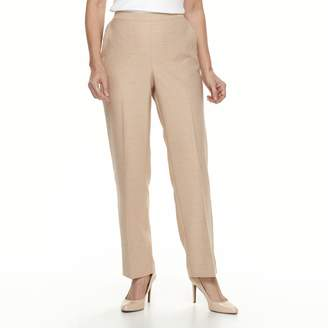 Alfred Dunner Petite Studio Pull-On Flat Front Pants