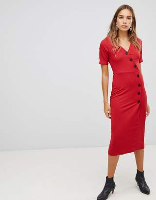 New Look Rib Button Through Dress
