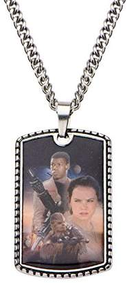 Star Wars Jewelry Episode 7 Portrait Stainless Steel Dog Tag Men's Pendant Necklace