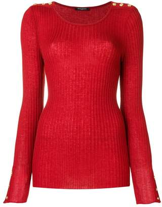 Balmain ribbed knit top