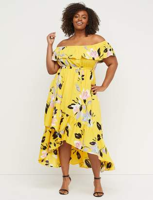 Lane Bryant Off-the-Shoulder Ruffle Maxi Dress