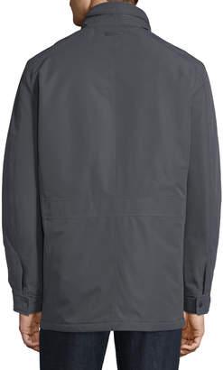 Andrew Marc Men's Rigby Four-Pocket Jacket W/ Hidden Hood