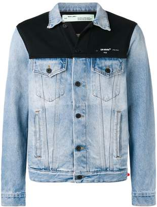 Off-White contrasting panel denim jacket
