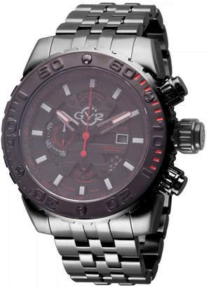 Gv2 48mm Polpo Chronograph Stainless Steel Bracelet Watch, Gunmetal