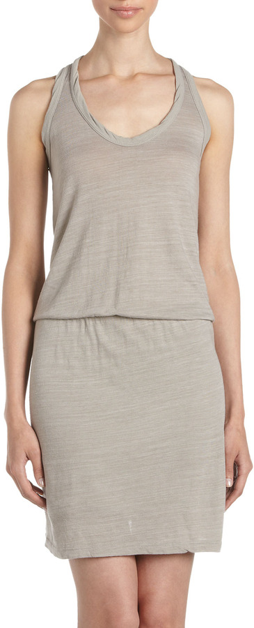 James Perse Racerback Dress, Shadow