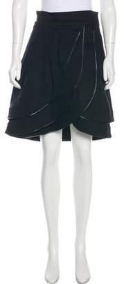 Adam Pleated Knee-Length Skirt