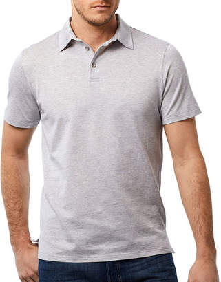 David Donahue Men's Houndstooth Pattern Polo Shirt