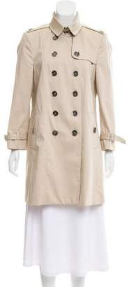 Burberry Long Sleeve Double-Breasted Coat