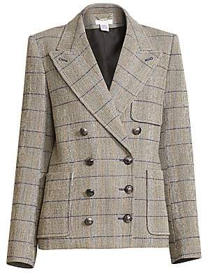 Chloé Women's Double Breasted Plaid Jacket