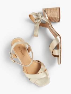Talbots Siena Rope Heel Sandals - Metallic Nappa