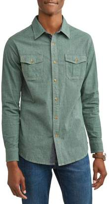 Lee Men's Long Sleeve Woven Shirt With Micro-Checks, Available Up To Size 2Xl