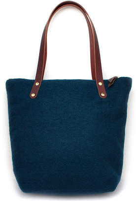 Knickers & Whiskey Imperial Peacock Wool Portfolio Tote Bag