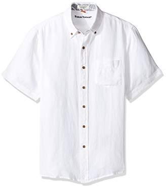 Tailor Vintage Men's Short Sleeve 100% Linen Shirt