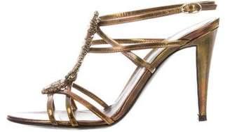 Sergio Rossi Crystal-Embellished Multistrap Sandals