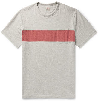 Faherty Slim-Fit Striped Slub Cotton-Jersey T-Shirt - Men - Gray