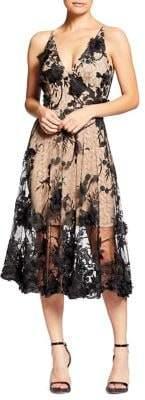Dress the Population Audrey Lace Midi A-Line Dress