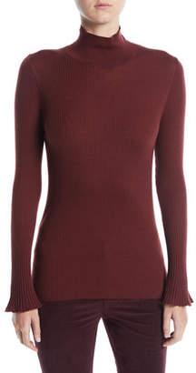 Lafayette 148 New York Fine-Gauge Wool Turtleneck Sweater