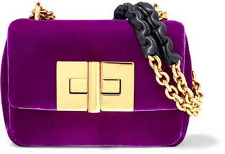Tom Ford Natalia Mini Velvet Shoulder Bag - Purple