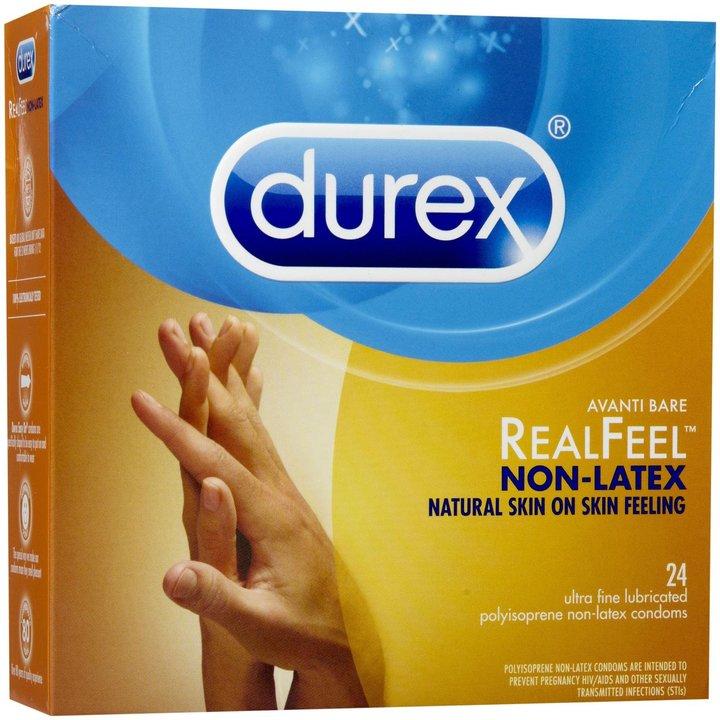 Durex Real Feel Avanti Bare Polyisoprene Non-Latex Condoms-24 ct