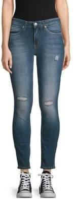 Calvin Klein Jeans Distressed Skinny Jeans