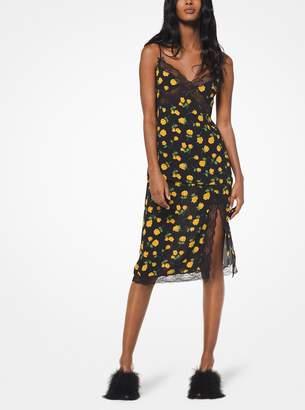 Michael Kors Rosebud Silk-Georgette Slip Skirt