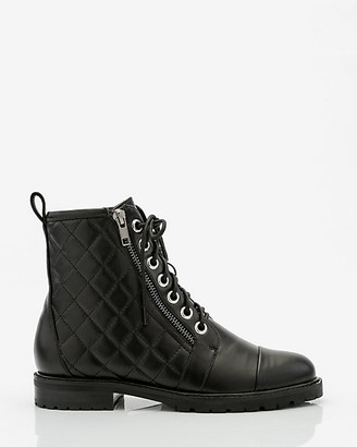 Le Château Quilted Lug Sole Combat Boot