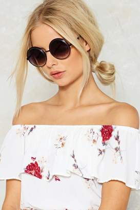 Nasty Gal Feel the Spin Circle Shades