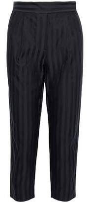 Brunello Cucinelli Cropped Striped Cotton-Blend Tapered Pants